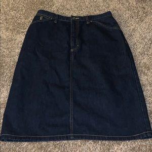 Liz Claiborne Jean Skirt Size 10 Pre Owned